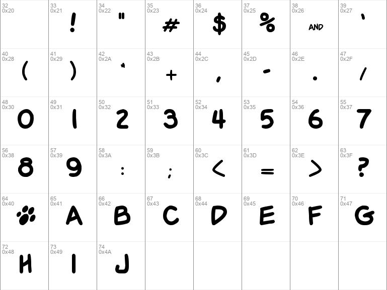 Download Free Garfield Regular Font Dafontfree Net