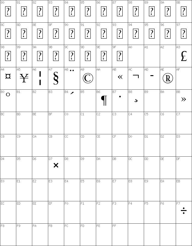 Download free HACKED Regular font   dafontfree net