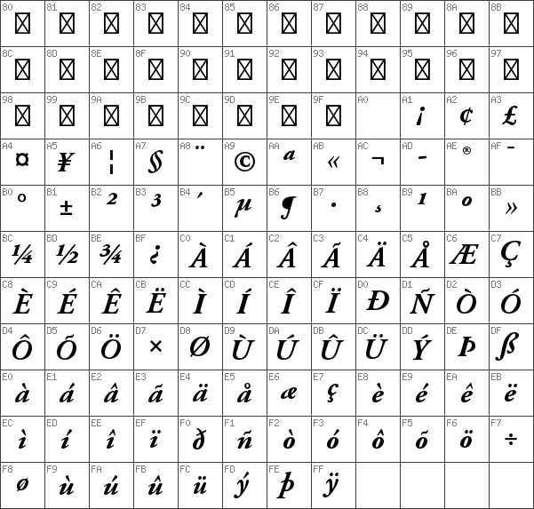 Download free Adobe Garamond Pro Bold Italic font