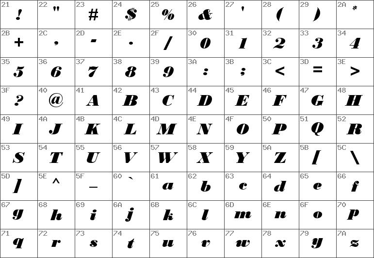 Download free Bodoni MT Black Italic font   dafontfree net