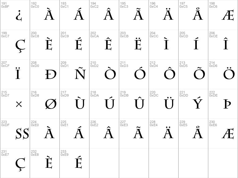 charlemagne std bold font