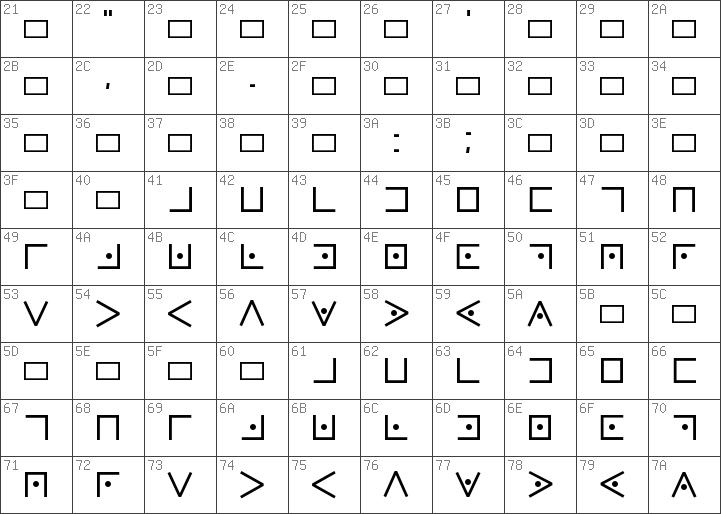 Download Free Pigpen Cipher Regular Font Dafontfree Net