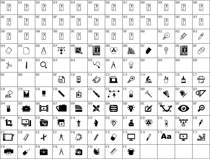 Char Unicode Graphic design Regular