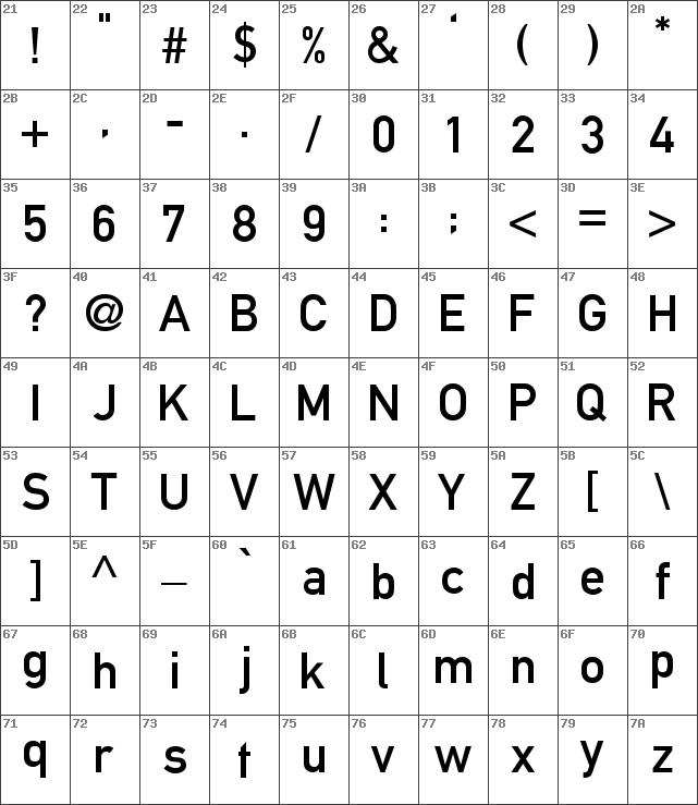 Download free Alte DIN 1451 Mittelschrift Regular font
