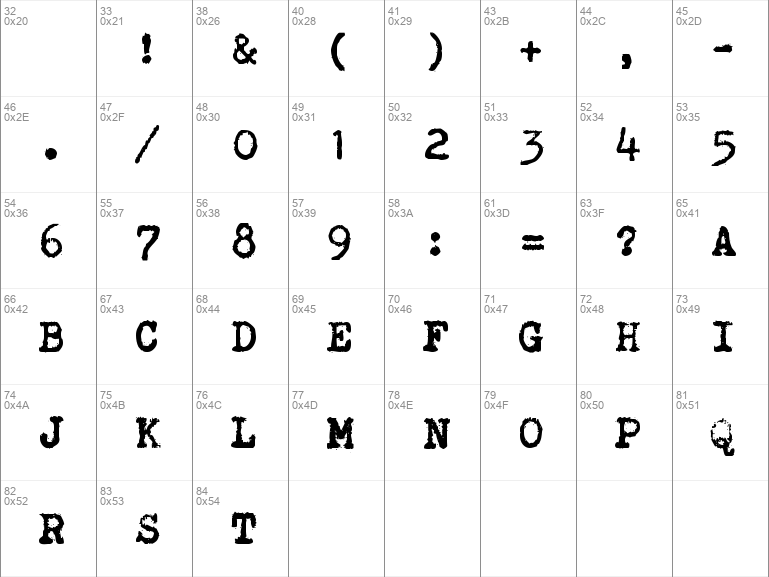 Brother Deluxe 1350 Font Regular
