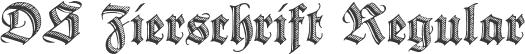DS Zierschrift Regular
