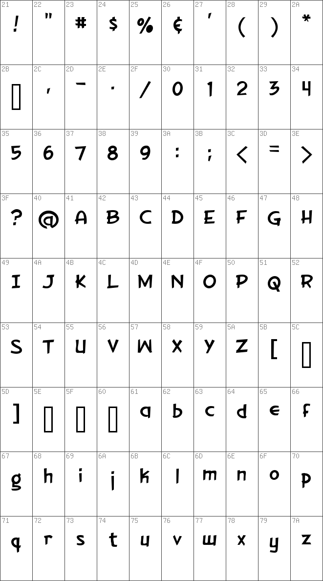 Download free Gorilla Milkshake Regular font | dafontfree net
