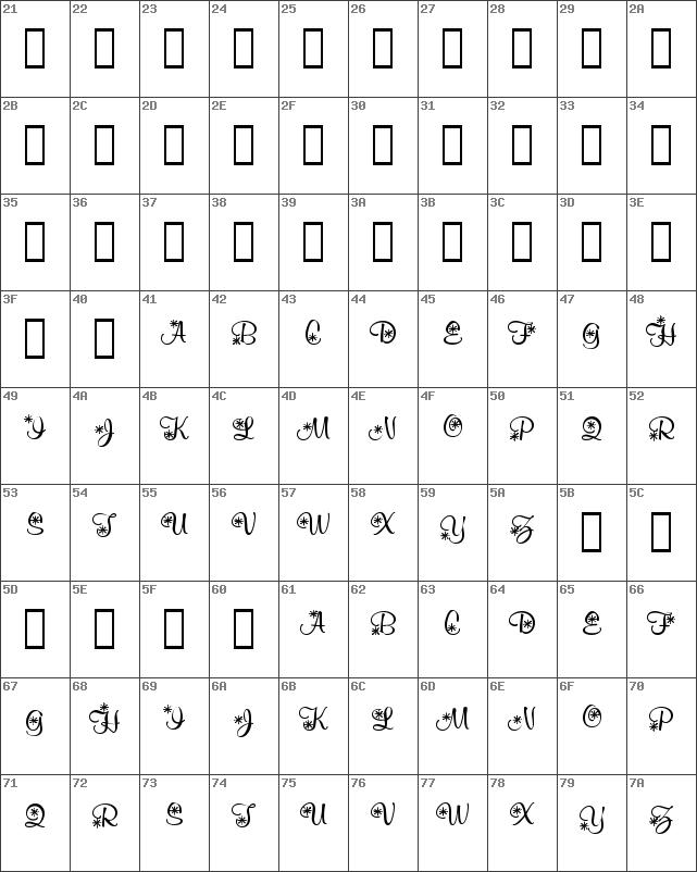 Download Free Kr Snowflake 2 Regular Font Dafontfreenet