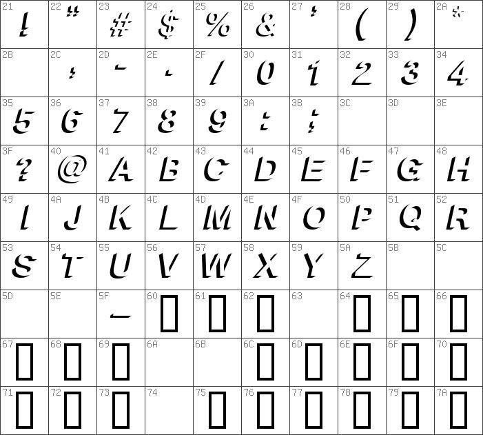 Download free Block Shadow Bold Italic font   dafontfree net