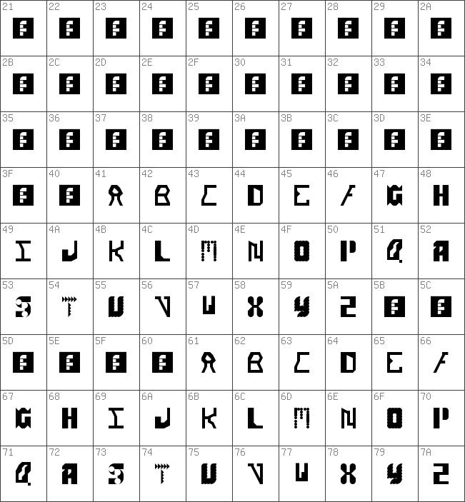 Alien Alphabet Font - Alphabet Image and Picture