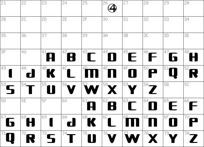 Download Free Fantastic Four Movie Regular Font Dafontfree Net