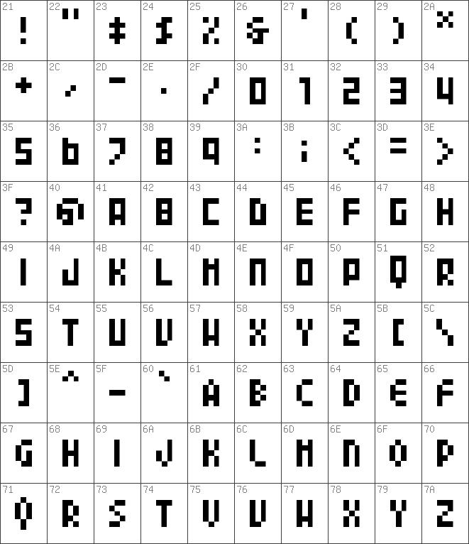 04b24 font
