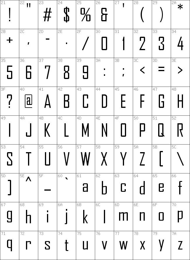 Agency fb regular truetype font.
