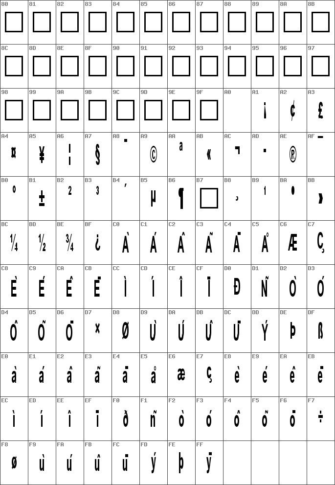 Antenna extracond Fonts Free Download