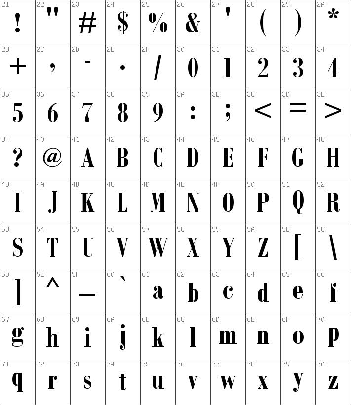 Download free Bodoni MT Condensed Bold font | dafontfree net