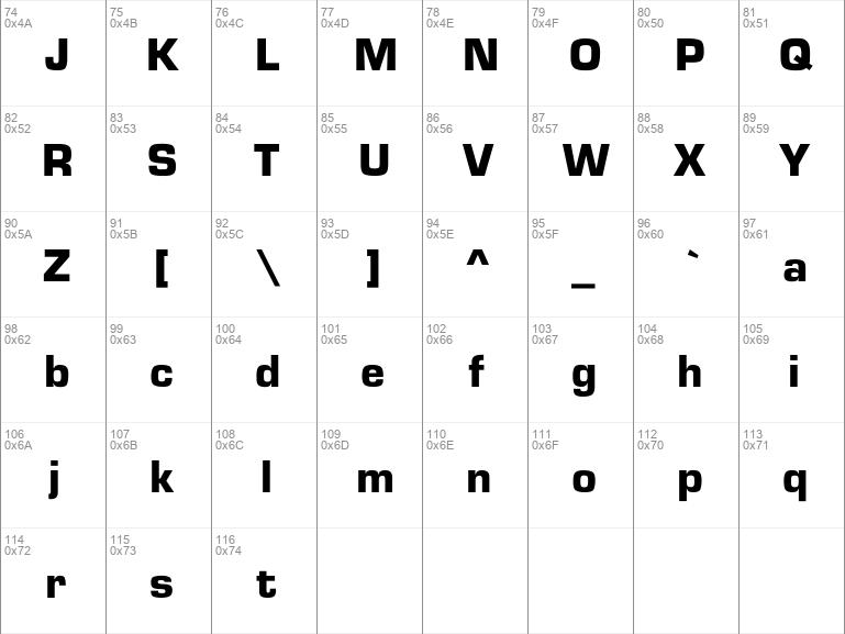 Download Free Eurostile Black Regular Font Dafontfree Net
