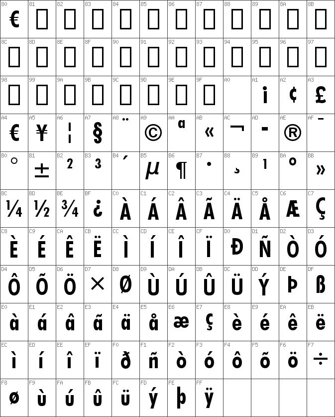 Aurora bdcn bt bold truetype font.