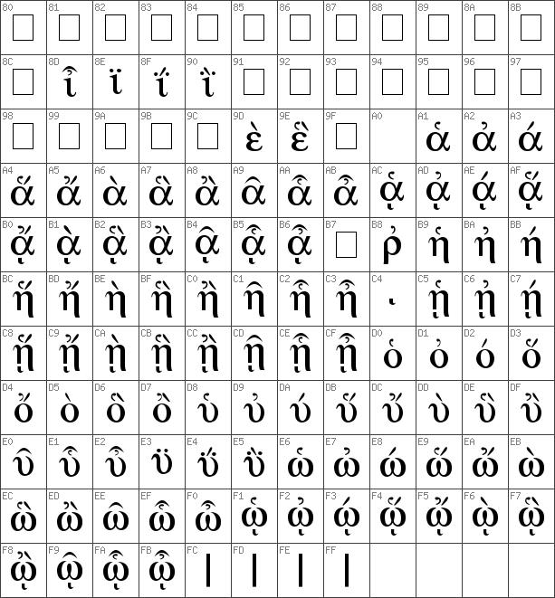Download free Greek Regular font | dafontfree net