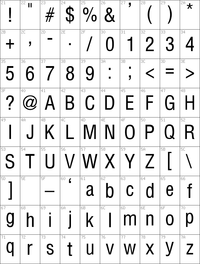 Download Helvetica-Condensed-Thin Regular font   free