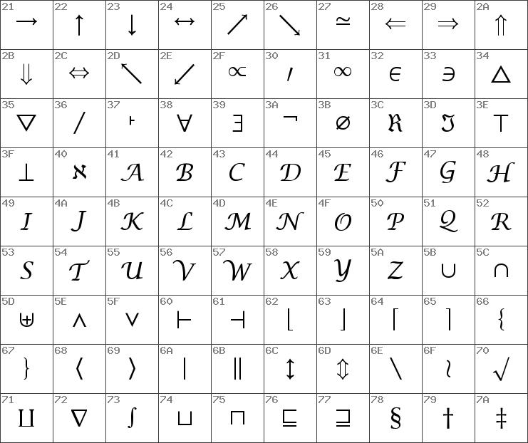 Download free Insight Math Symbol SSi Symbol font | dafontfree net