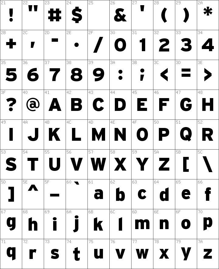 Interstate Fonts