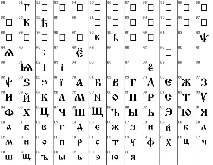 Download free Izhitsa Cyrillic font | dafontfree net
