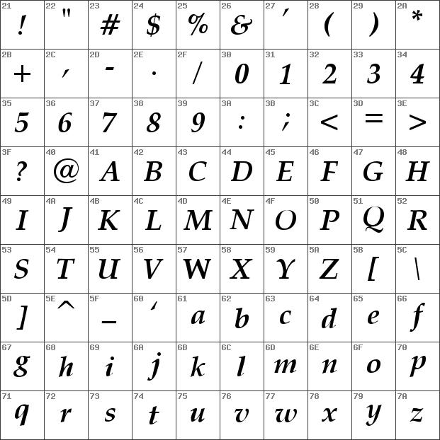 Download free Palatino Bold Italic font | dafontfree.net