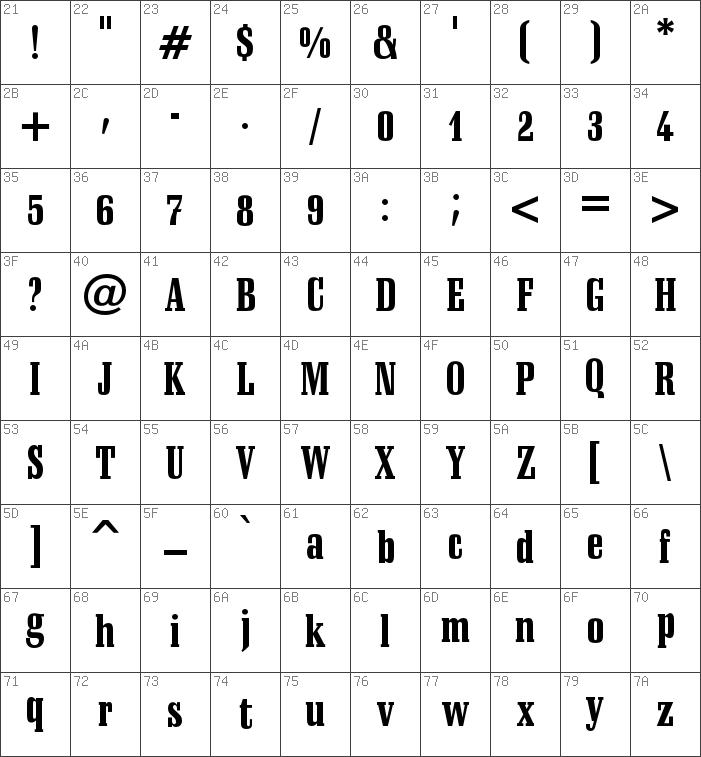 schadow black condensed font