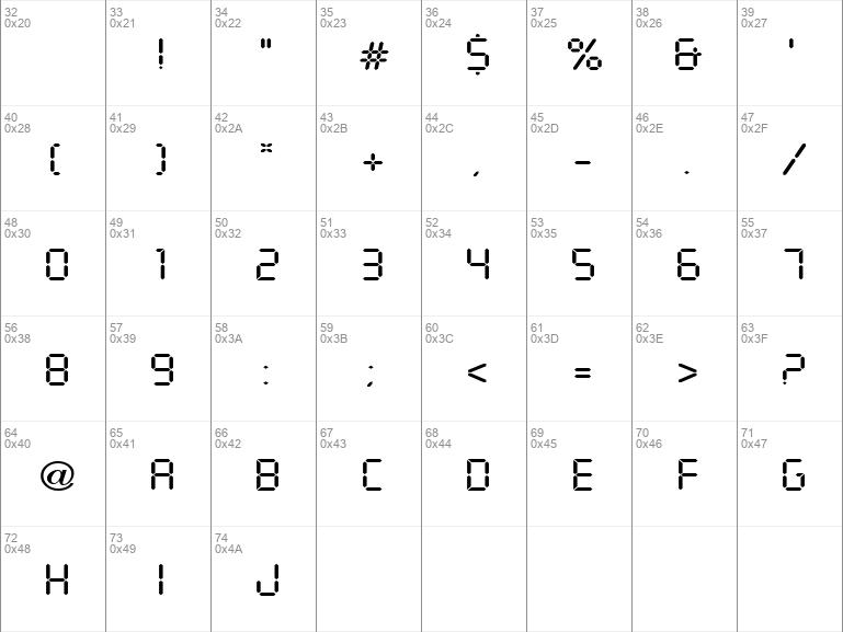 Download Free Digital Display Regular Font Dafontfree Net