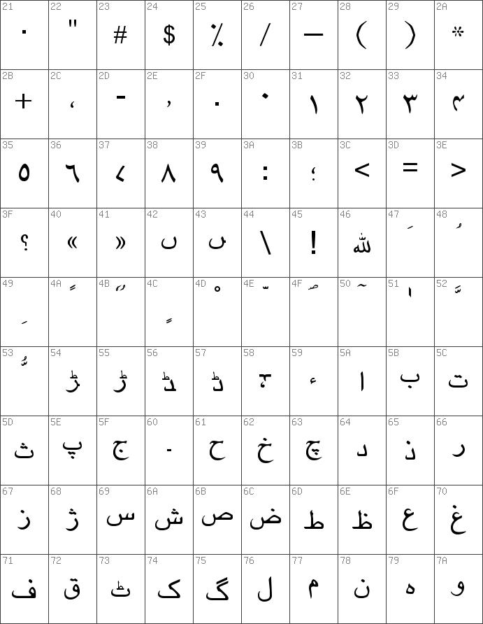 Download free Urdu Regular font   dafontfree net