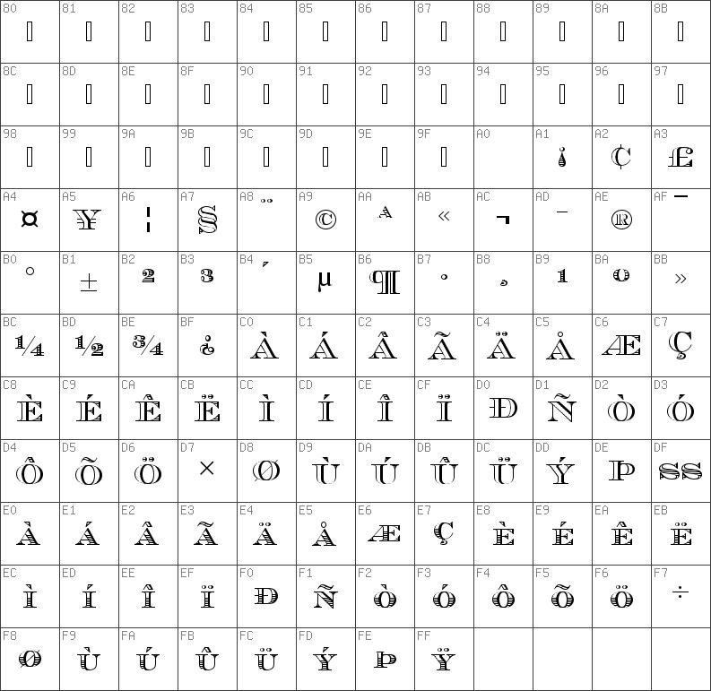 Download free Chevalier Becker Stripes Caps Regular font