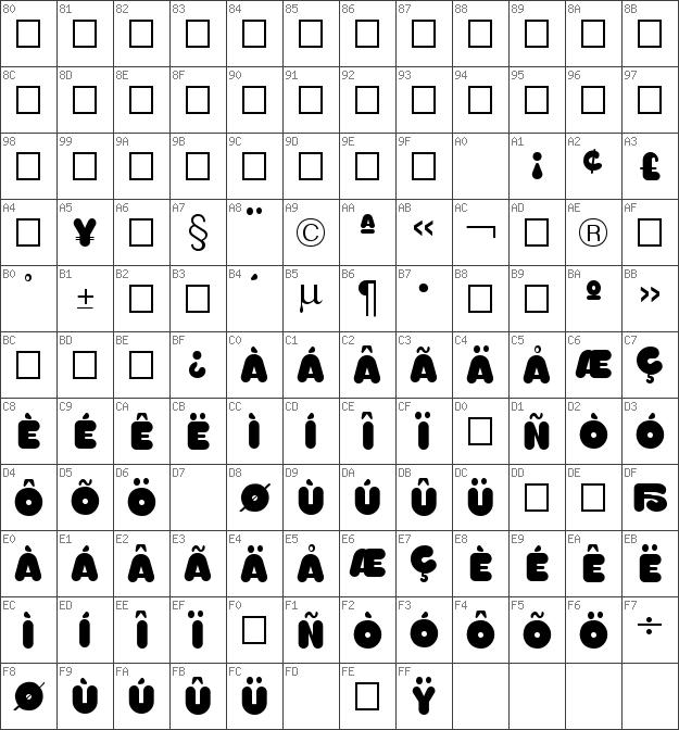 Download free Too Much Opaque Regular font | dafontfree net