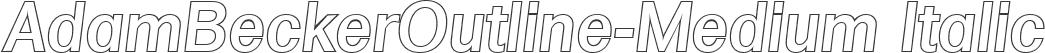 AdamBeckerOutline-Medium Italic