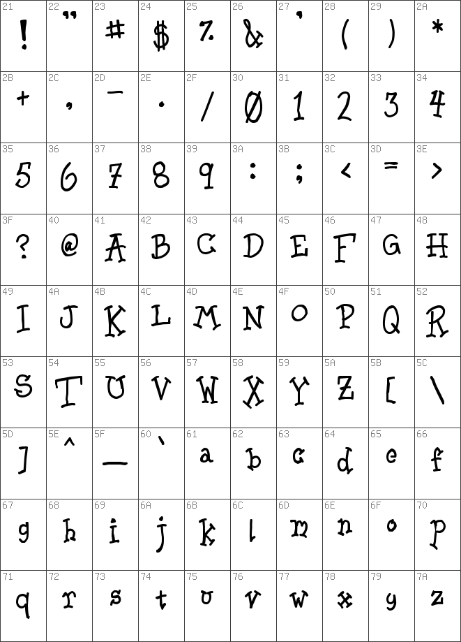 Download free Leech Regular font | dafontfree net