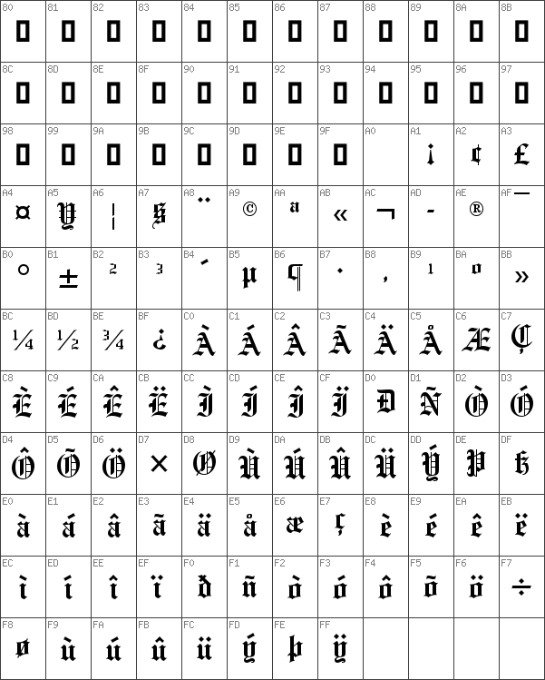 Download free Old English Regular font | dafontfree net