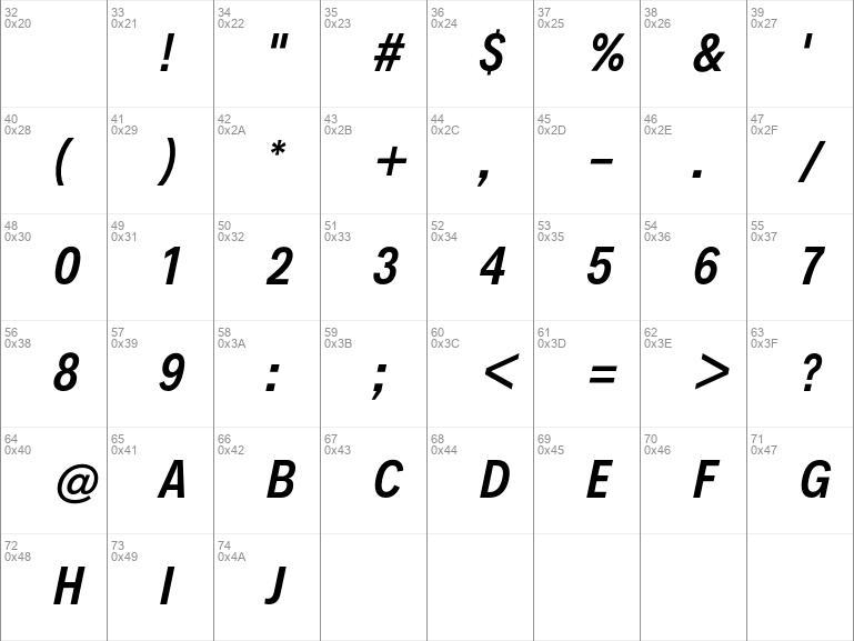 Decalotype SemiBold Italic