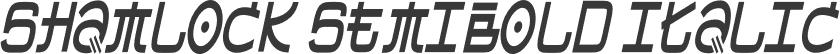 Shamlock SemiBold Italic