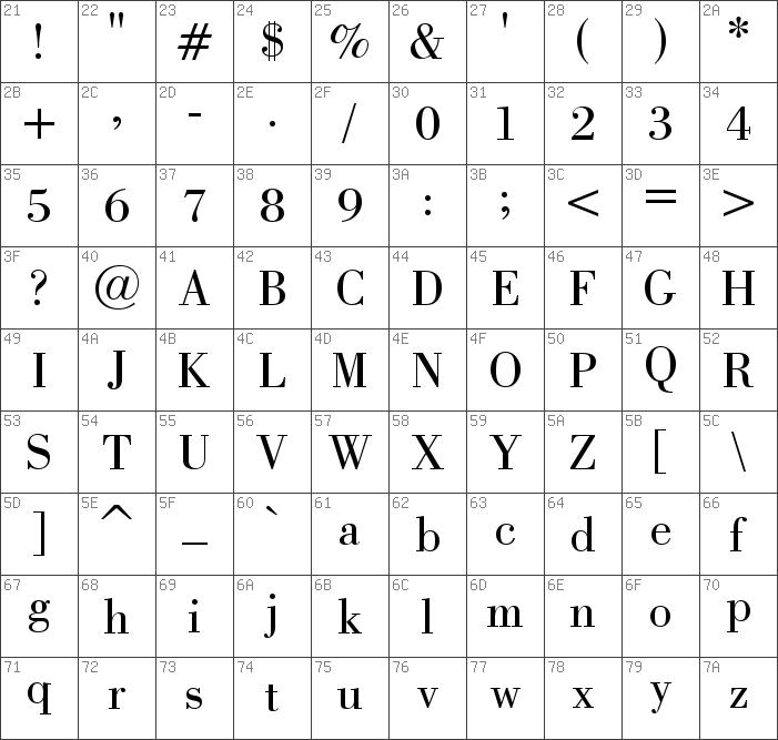 Download free Bodoni Book font | dafontfree net