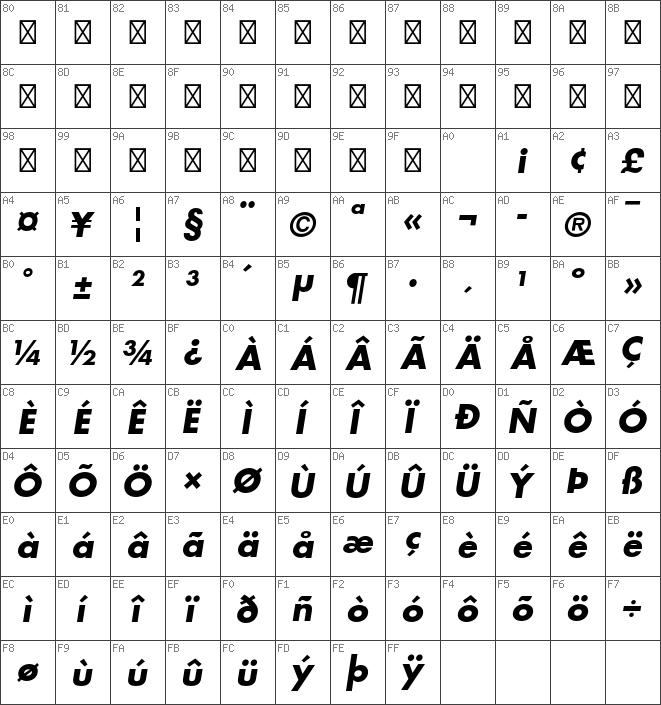 Download free Futura Std Bold Oblique font | dafontfree net