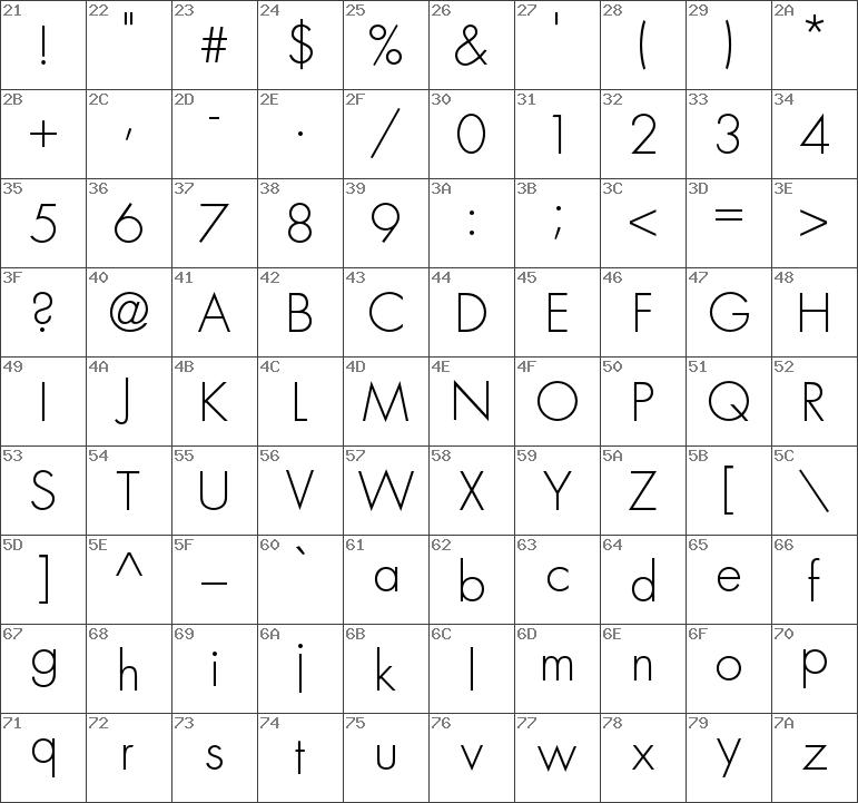Download free Futura Std Light font | dafontfree net