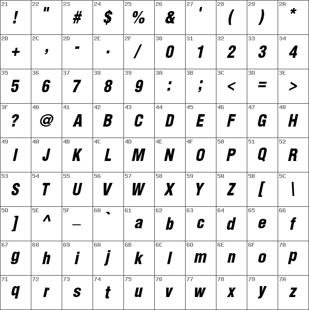 Helvetica condensed black oblique free download