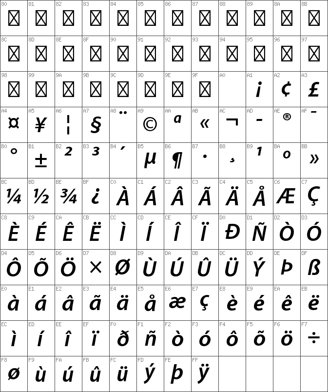 Download free Myriad Pro Semibold Italic font | dafontfree net