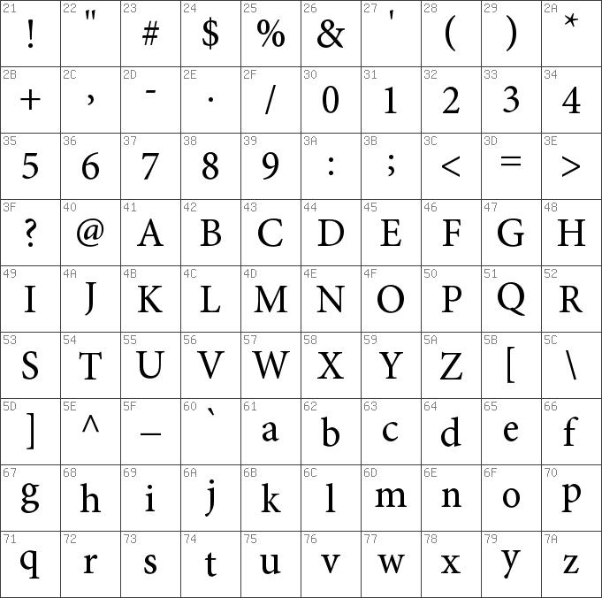 Download free Minion Pro Regular font   dafontfree net
