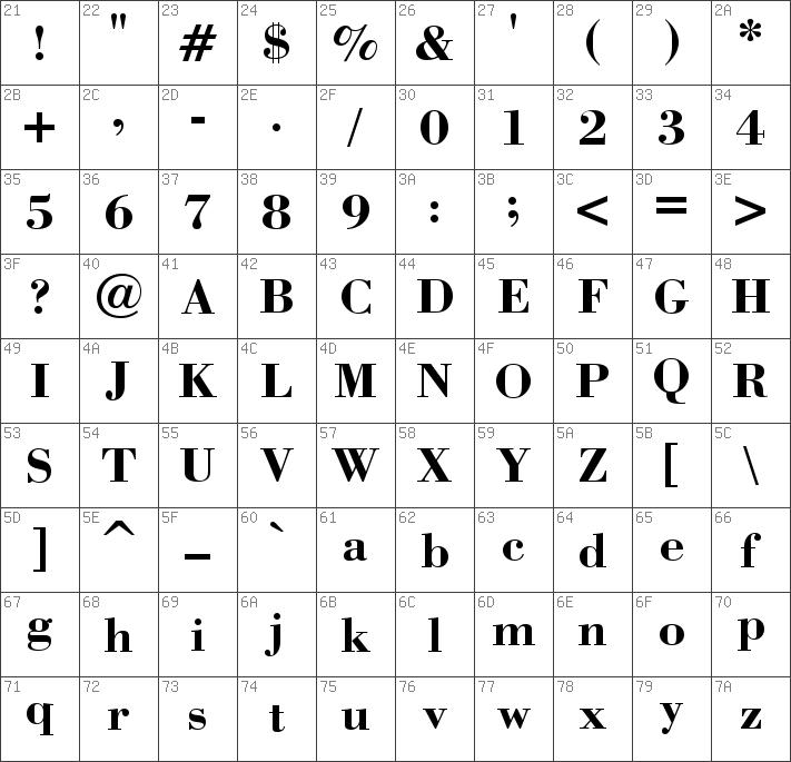 Download free Bodoni Bold font   dafontfree net