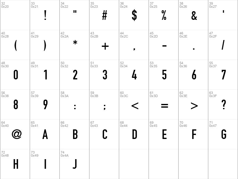 Dinengschrift regular: download for free, view sample text.