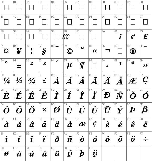 Download free Greco Europa SSi Bold Italic font | dafontfree net