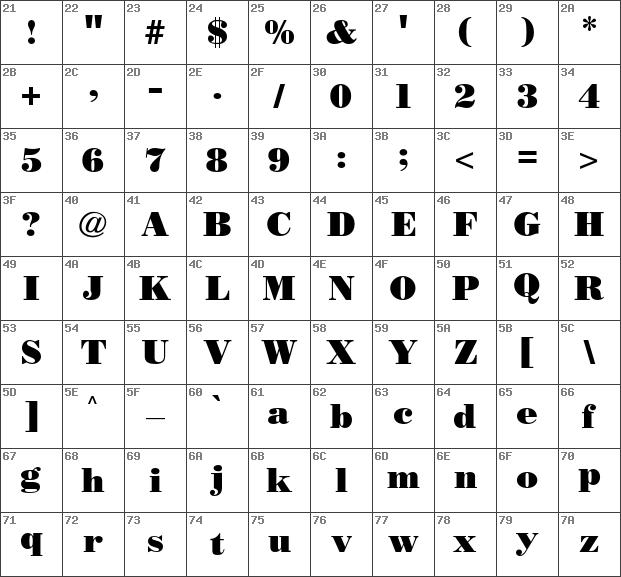 Download Free Poster Bodoni CG Regular Font