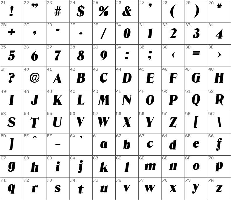 hoboken serial black font free download