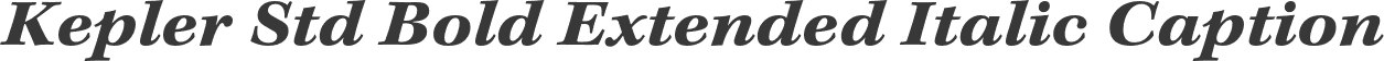 Kepler Std Bold Extended Italic Caption