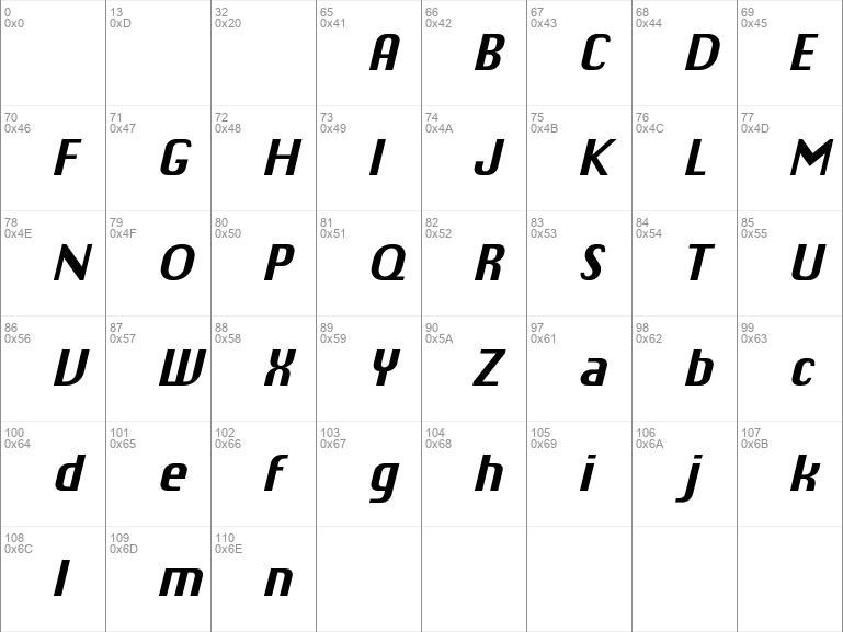 Chiq Reduced Bold Italic